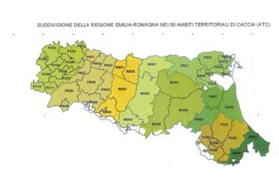 Cartina di distribuzione degli ATC