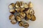 Foto 2. Sintomo di marciume gessoso all'interno delle castagne