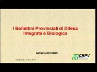 I Bollettini provinciali di difesa Integrata