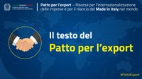 "Patto per l'Export: parola d'ordine ""rilanciare il Made in Italy""."