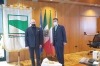 Il presidente Bonaccini incontra l'ambasciatore del Messico in Italia