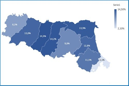 Grafico 4 mappa valore province